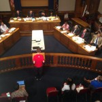 SMWC member Nat Lippert speaks to City Council members
