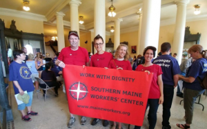 Members of SMWC went to the Statehouse to act in solidarity with government workers during the shutdown.